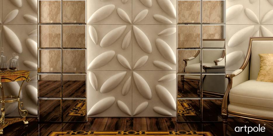 Декоративная дизайнерская панель 3D Artpole, ЭКО, 000003 Bily