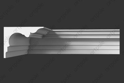 Карниз гладкий SKT117 из гипса