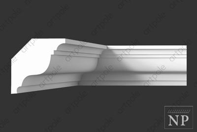 Карниз гладкий SKT35 из гипса