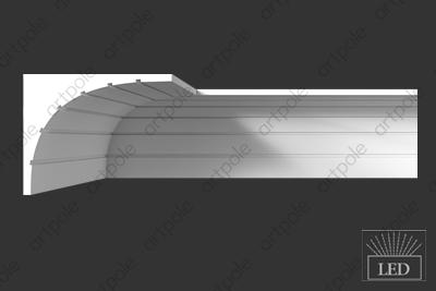 Карниз гладкий SKT76 из гипса