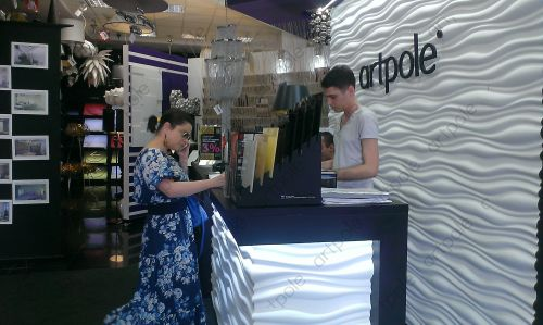 "Natasha Korolyova visiting the showroom ""Artpole"""