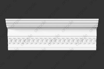 Карниз орнаментальный SK60N (наборный) из гипса