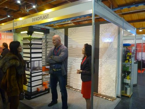 "Artpole parners from Latvia, SIA Dekoplast, at the international exhibition ""House I 2016"""