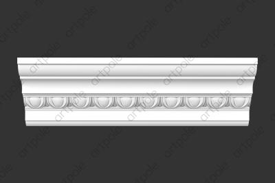 Карниз орнаментальный SK69N (наборный) из гипса