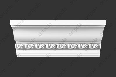 Карниз орнаментальный SK66N (наборный) из гипса