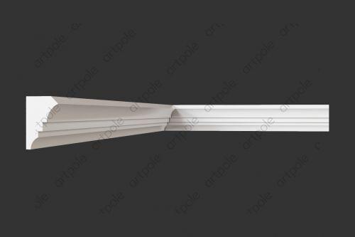 Карниз гладкий S201KT2 из гипса