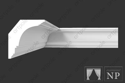 Карниз гладкий S6K1 из гипса