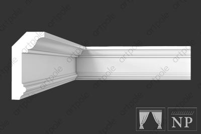 Карниз гладкий S6K2 из гипса