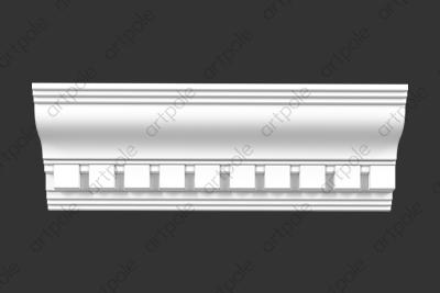 Карниз орнаментальный SK71N (наборный) из гипса