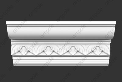 Карниз орнаментальный SK64N (наборный) из гипса