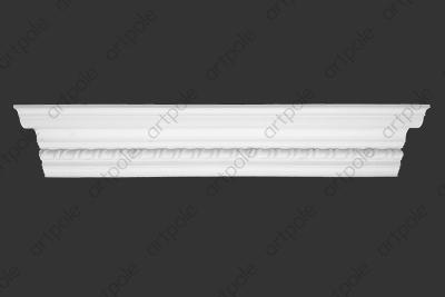 Карниз орнаментальный SK46N (наборный) из гипса