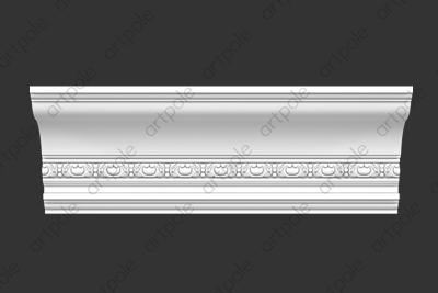 Карниз орнаментальный SK116N (наборный) из гипса
