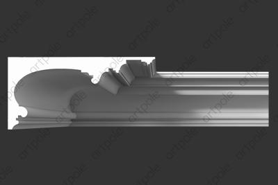 Карниз гладкий SKT127 из гипса