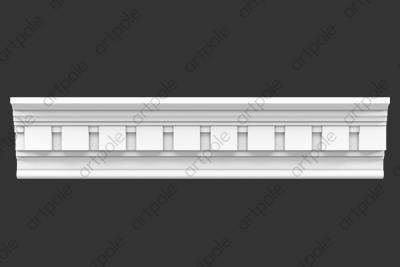Карниз орнаментальный SK62N (наборный) из гипса
