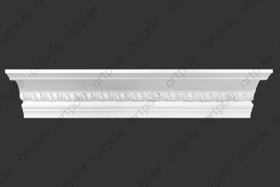 Карниз орнаментальный SK55N (наборный) из гипса