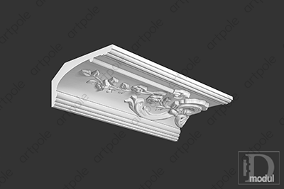 Карниз орнаментальный SK39L из гипса