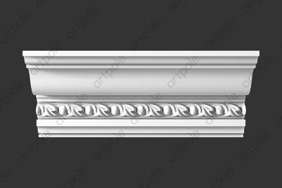 Карниз орнаментальный SK65N (наборный) из гипса