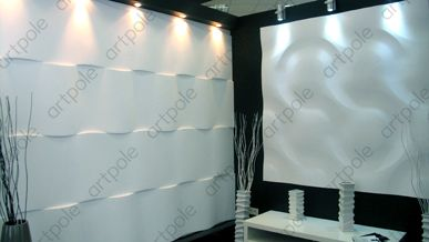 Artpole collection of gypsum panels