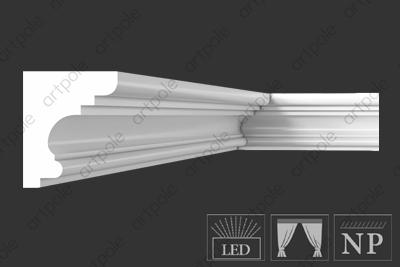 Карниз гладкий S6K10 из гипса