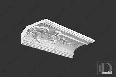 Карниз орнаментальный SK39R из гипса