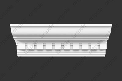 Карниз орнаментальный SK68N (наборный) из гипса