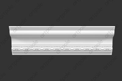 Карниз орнаментальный SK114N (наборный) из гипса