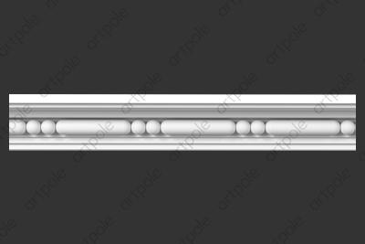 Карниз орнаментальный SK70N (наборный) из гипса