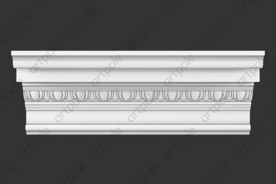 Карниз орнаментальный SK63N (наборный) из гипса