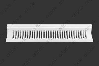 Карниз орнаментальный SK111 (вентиляционный) из гипса