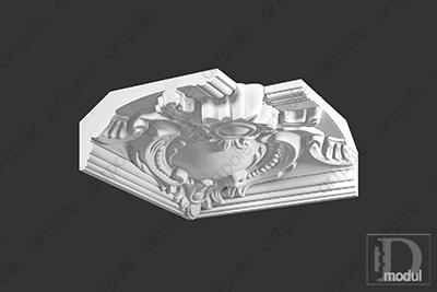 Карниз орнаментальный SK39U из гипса
