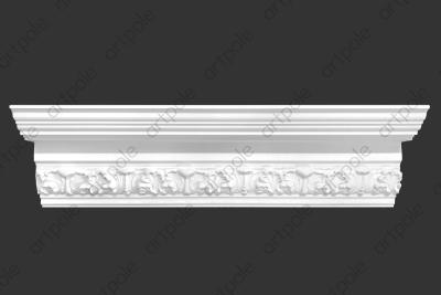 Карниз орнаментальный SK48N (наборный) из гипса