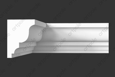 Карниз гладкий SKT119 из гипса