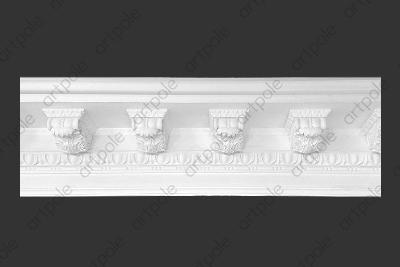 Карниз орнаментальный SK54N (наборный) из гипса