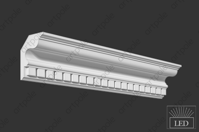 Карниз орнаментальный S8K1 из гипса