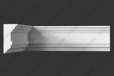 Карниз гладкий SKT136 из гипса
