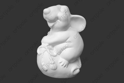 """Фигурка """"Счастливый крыс"""" SBT8 из гипса"""