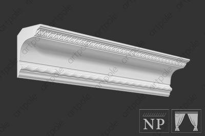 Карниз орнаментальный SK118N (наборный) из гипса